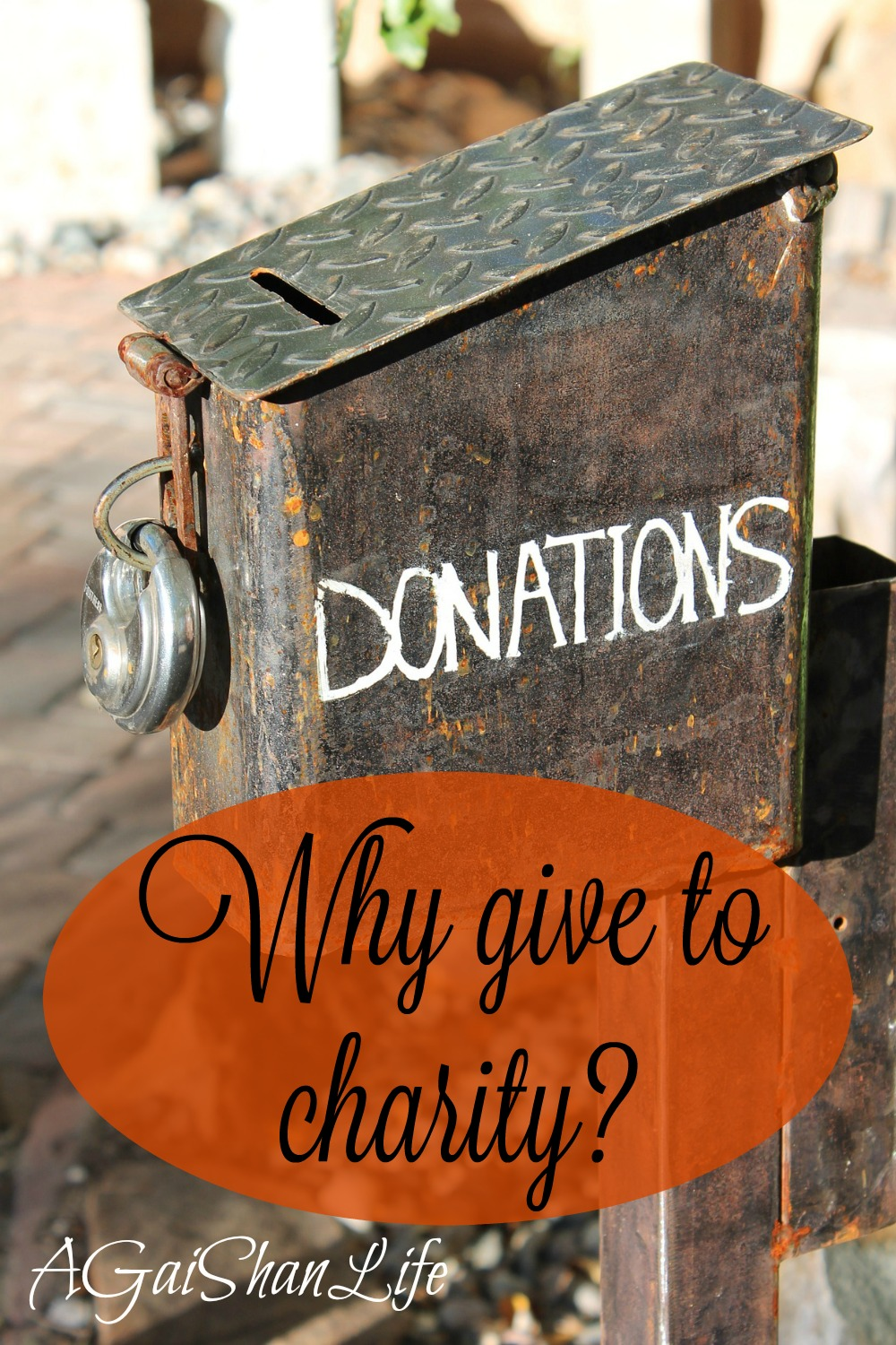 Charity: Why I think it's important to give, even if you can only give a little