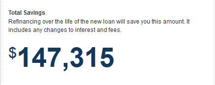 Total savings over the life of the loan: $147,315
