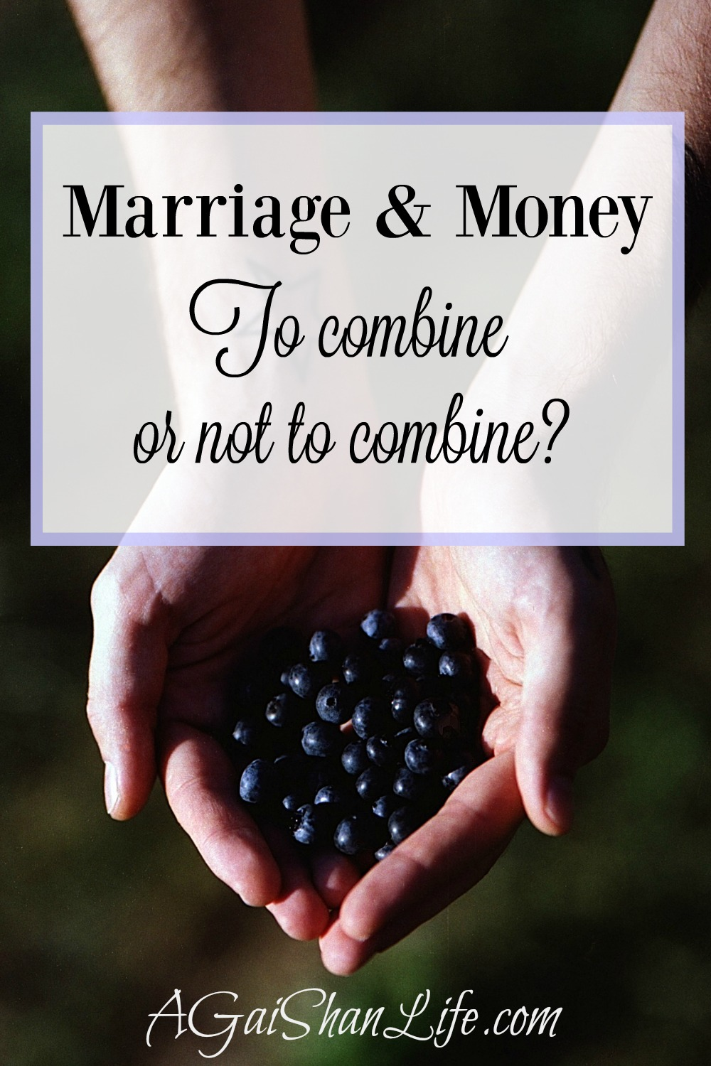 In our marriage, our finances are 99% combined. How would you do it?