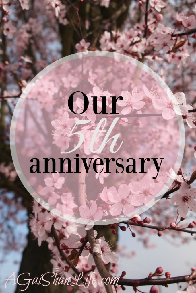 Our 5th wedding anniversary: Lessons learned