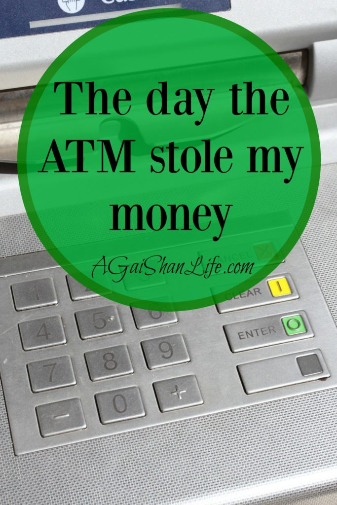 The day the ATM stole my money