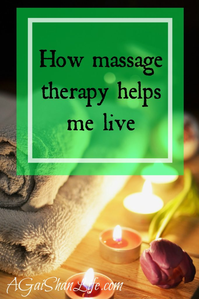When massage therapy is physical therapy and makes living possible