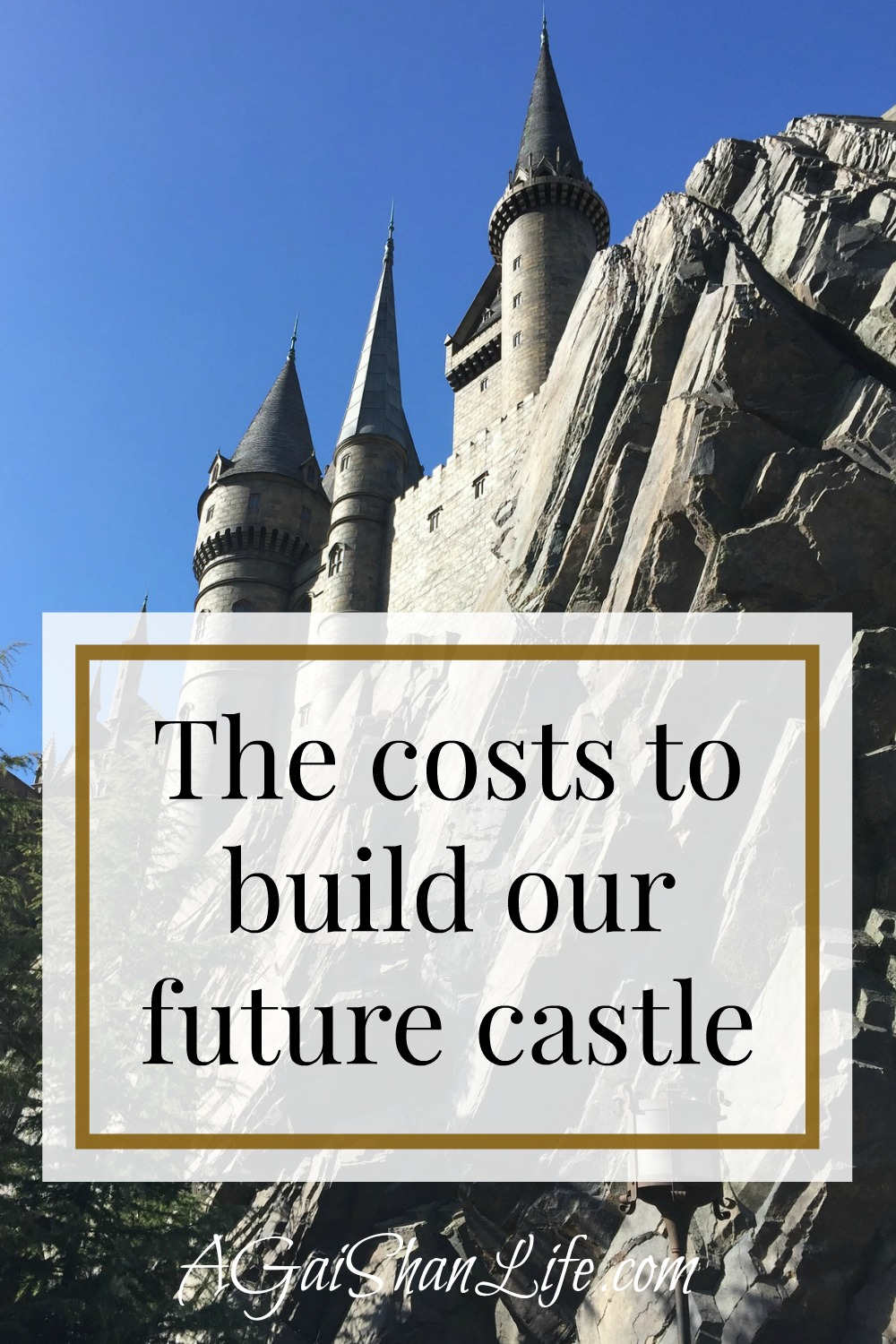 The costs to build our future castle (home!)