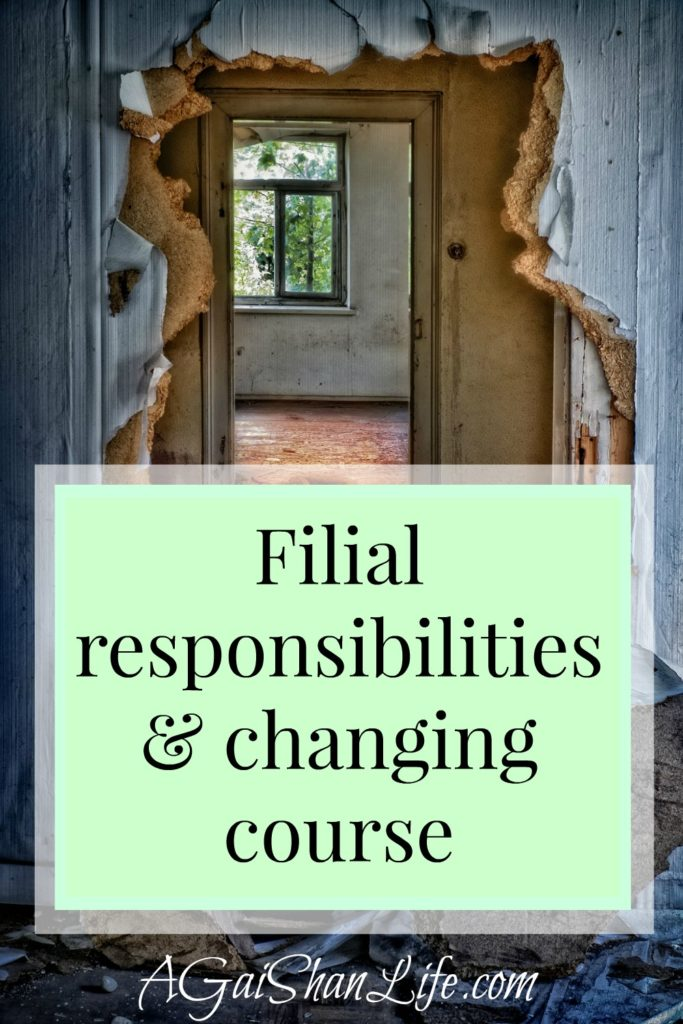 Reeling from discoveries: redefining my filial responsibilities